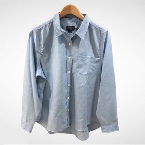 Pendleton Women's Blouse Button Down Light Blue